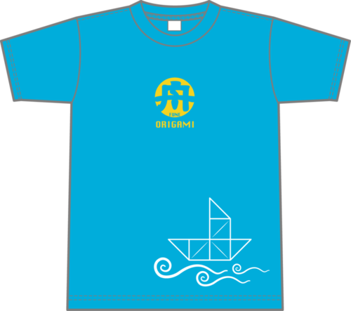 Origami Boat T-shirt (light blue)
