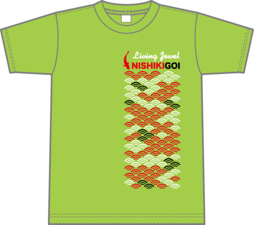Carp Scales Design T-shirt (light green)